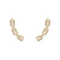 Shashi Chain Ear Climber in Gold