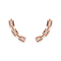 Shashi Chain Ear Climber in Rose Gold