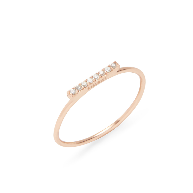 Shashi Tracy Ring in Rose Gold