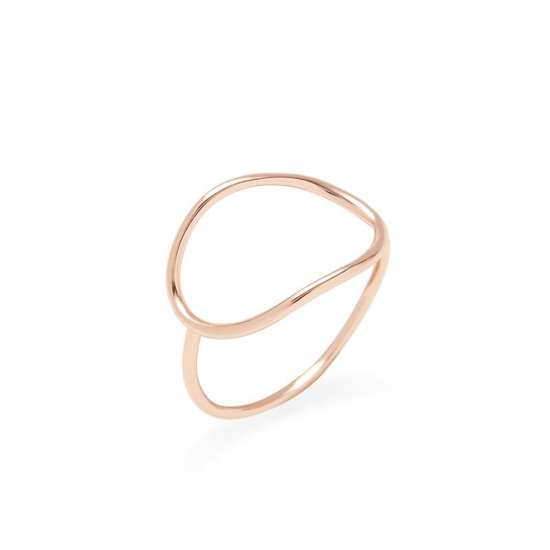 Shashi Natalie Ring in Rose Gold