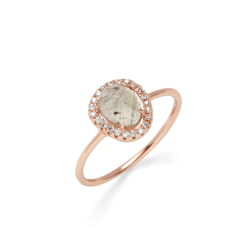 Shashi Nora Ring in Rose Gold