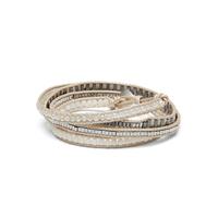 Nakamol Multi Color Cream Wrap Bracelet