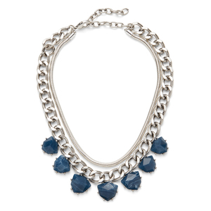 Perry Street Serena Statement Necklace in Navy