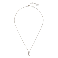 Sophie Harper Pave Moon Pendant Necklace in Silver