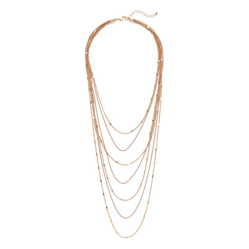 SLATE Gypsy Soul Necklace in Blush