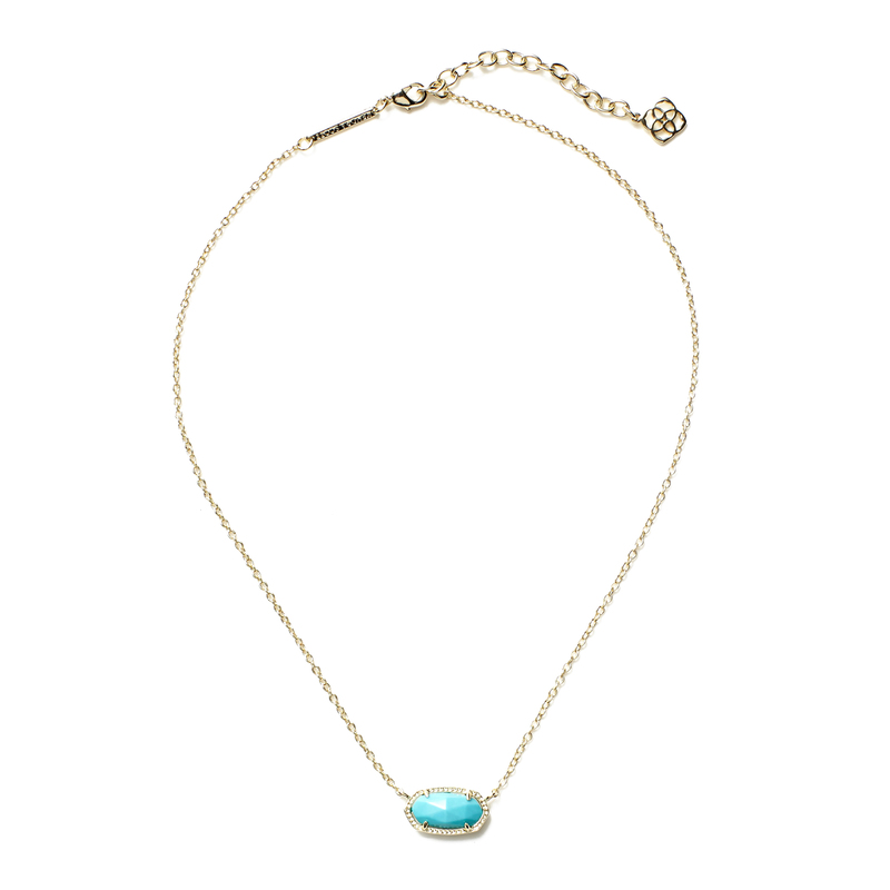 Kendra Scott Elisa Necklace in Turquoise
