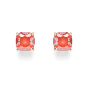 Kate Spade Square Studs in Orange