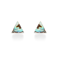 Leslie Francesca Triangle Abalone Studs in Silver