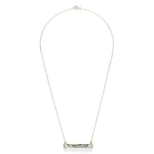 Leslie Francesca Bar Necklace in Abalone