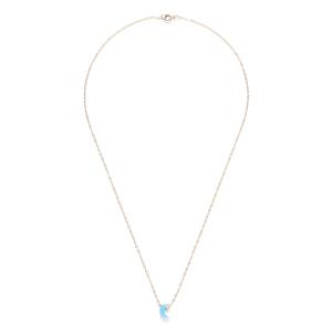 Leslie Francesca Moon Necklace in Blue Opal