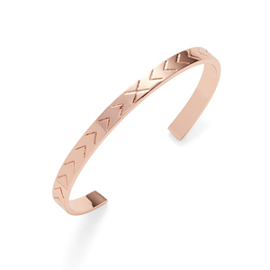 Kris Nations Chevron Cuff in Rose Gold