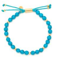Gorjana Power Gemstone Beaded Bracelet in Turquoise and Gold