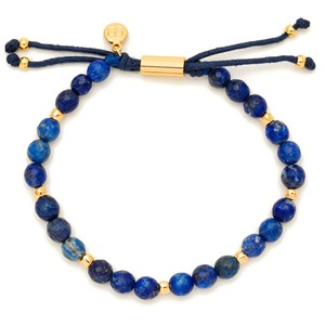 Gorjana Power Gemstone Beaded Bracelet in Lapis and Gold