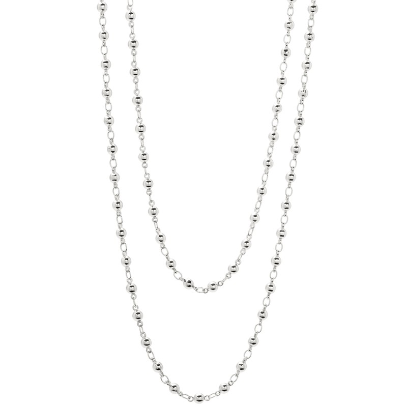 Gorjana Layer Bali Wrap Necklace in Silver