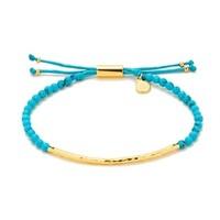 Gorjana Power Gemstone Bracelet in Turquoise and Gold