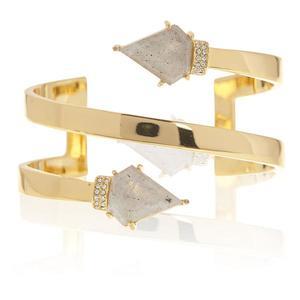 Luv AJ Moonstone Coil Bracelet in Gold