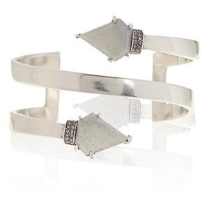 Luv AJ Moonstone Coil Bracelet in Silver