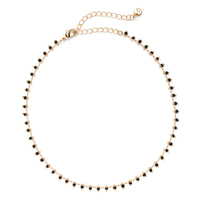 Aster Iris Choker in Gold and Black