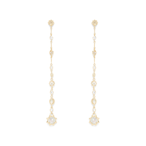 Kendra Scott Lydia Shoulder Duster Ear Jackets in Gold Iridescent