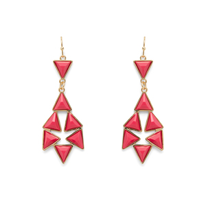 Perry Street Ashton Statement Earrings in Pop Pink