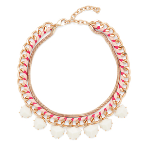 Perry Street Serena Statement Necklace in White