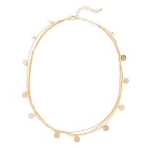 Sophie Harper Layered Gold Disc Choker