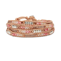 Nakamol Blush and Metallic Wrap Bracelet
