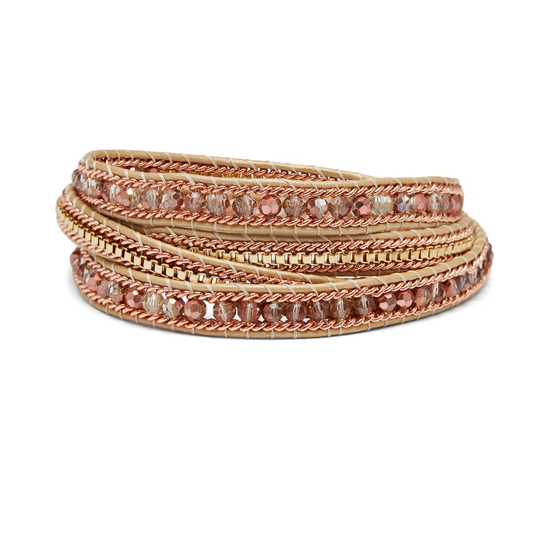 Nakamol Rose Gold and Gold Wrap Bracelet