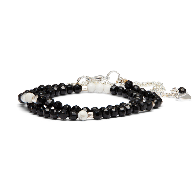 Nakamol Convertible Wrap and Choker in Onyx and Silver