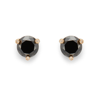 Kate Spade Rise and Shine Small Studs in Jet