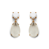 Kate Spade Here Comes the Sun Drop Earrings in White