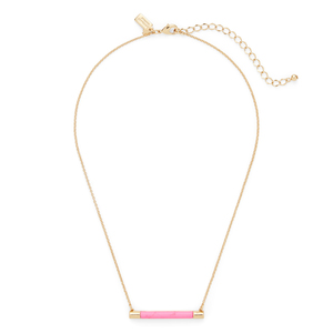 Kate Spade Building Blocks Bar Pendant in Pink
