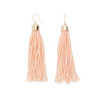 WILDE Sayulita Fringe Earrings in Gold and Peach