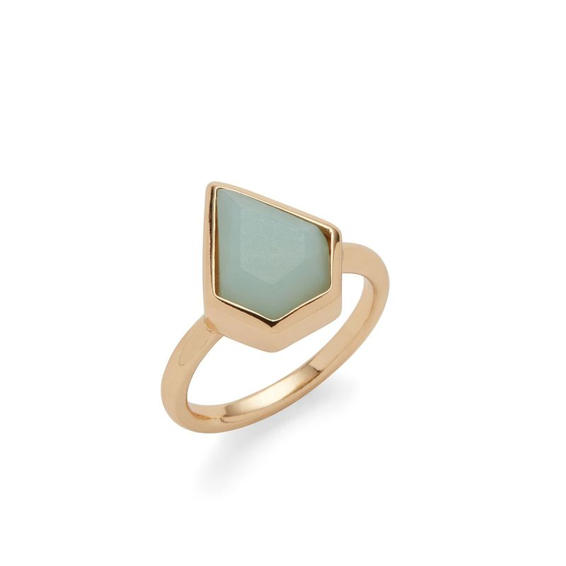 Aster Camellia Ring in Amazonite