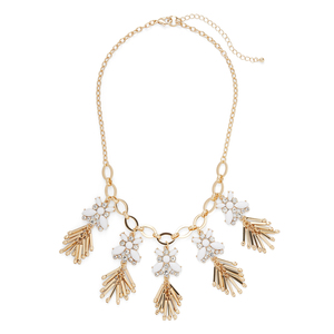 Perry Street Astrid Necklace in Gold and Crystal