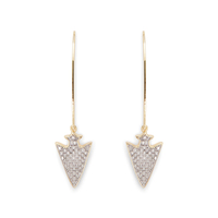 Rudiment Anina Earrings in Gold with Silver