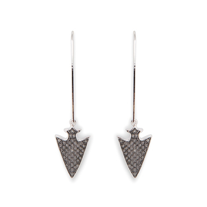 Rudiment Anina Earrings in Silver with Gunmetal