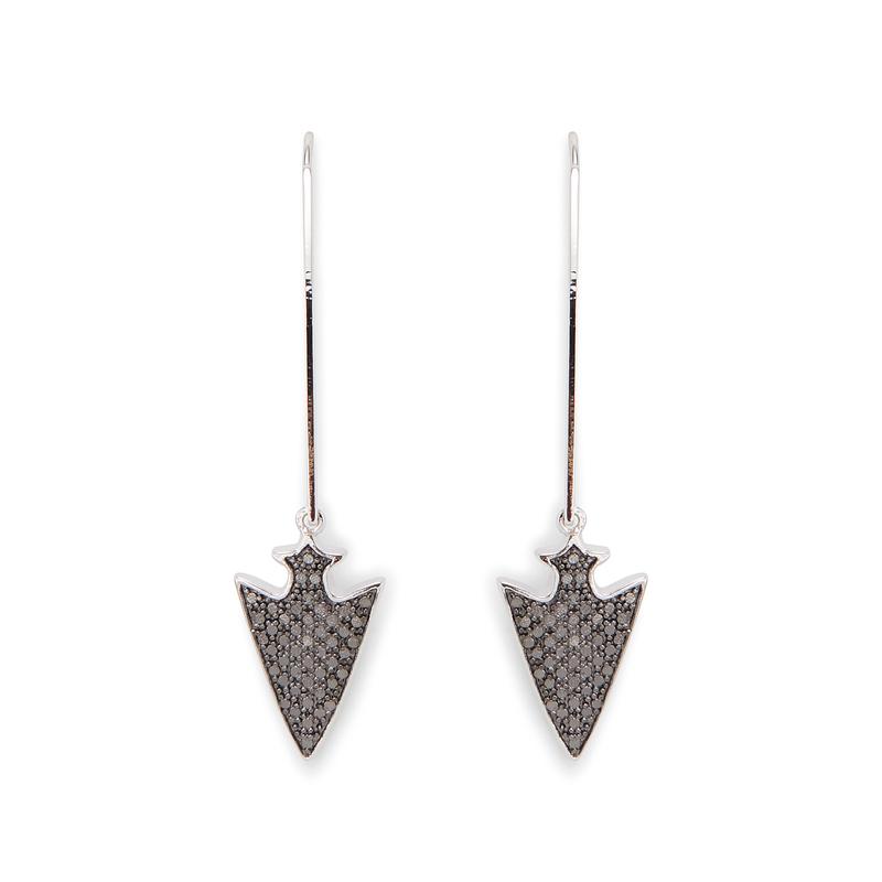 Rudiment Anina Earrings in Silver with Gunmetal