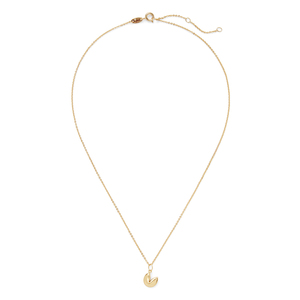Sophie Harper Fortune Cookie Necklace in Gold
