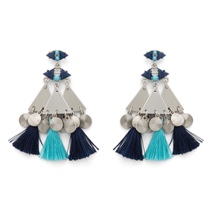 WILDE Marrakesh Earrings in Silver and Blue