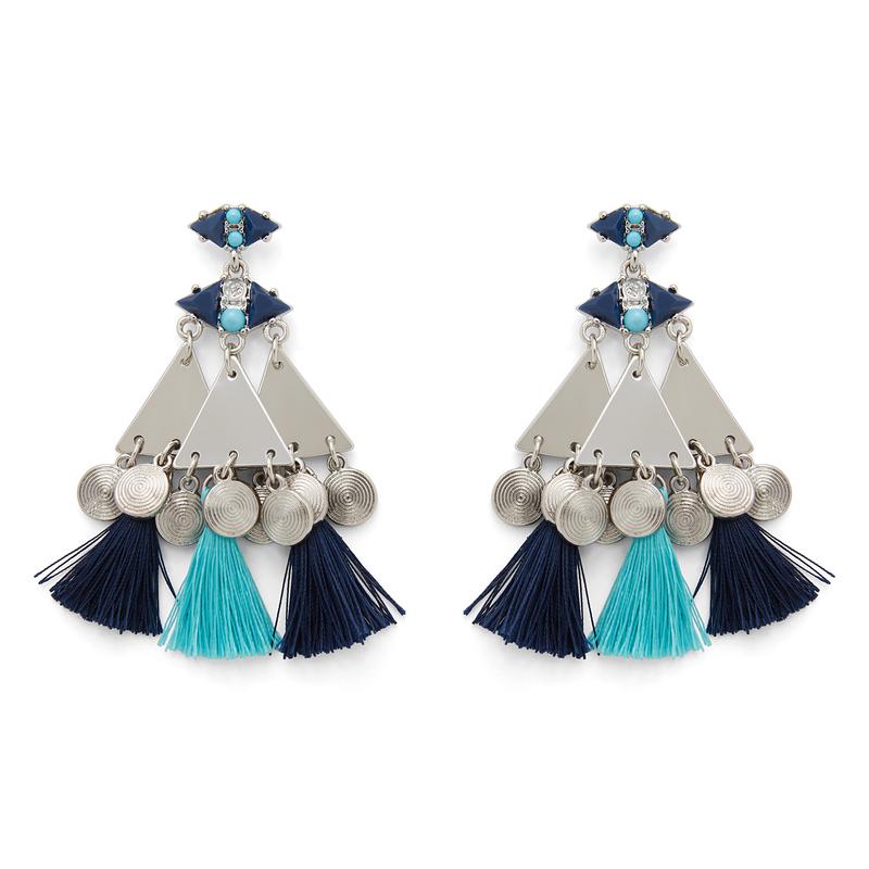 WILDE Marrakesh Earrings in Silver and Blue
