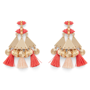 WILDE Marrakesh Earrings in Gold and Coral