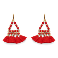 WILDE Ibiza Earrings in Gold and Hot Coral