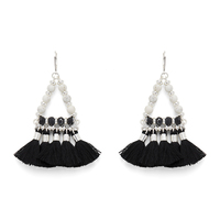 WILDE Ibiza Earrings in Silver and Black