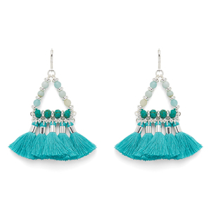 WILDE Ibiza Earrings in Silver and Turquoise