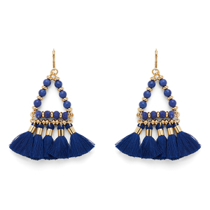 WILDE Ibiza Earrings in Gold and Cobalt