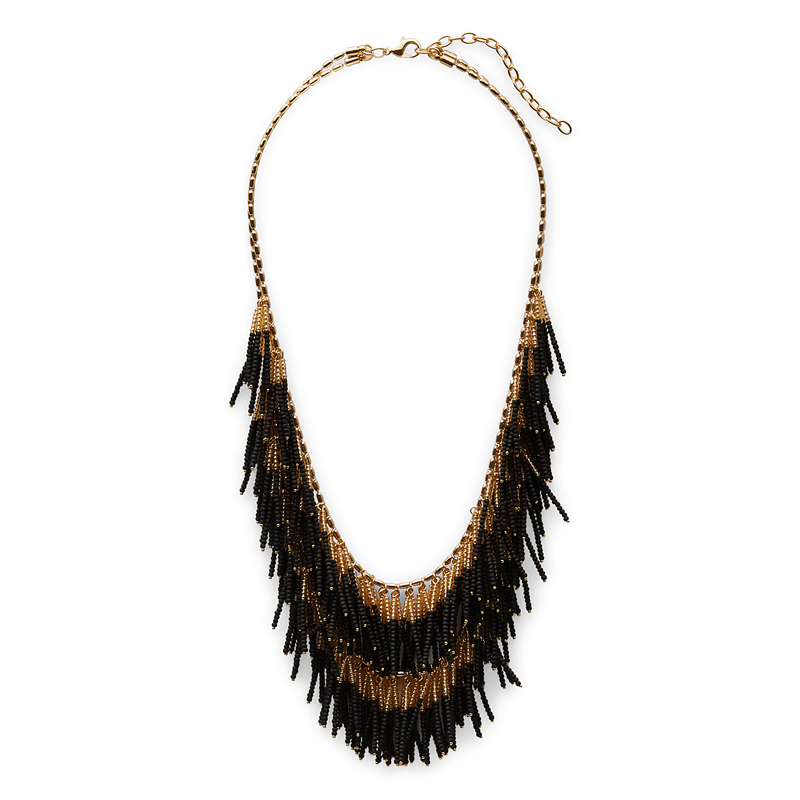 WILDE Alpinia Necklace in Gold and Black