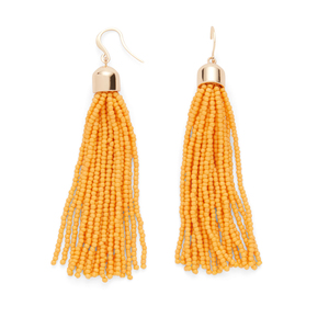 WILDE Sayulita Fringe Earrings in Saffron