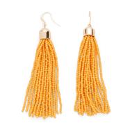 WILDE Sayulita Fringe Earrings in Saffron