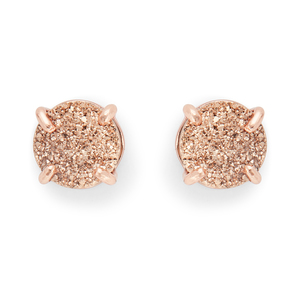 Ava Rose Charlotte Studs in Rose Gold and Rose Druzy